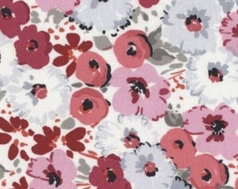 "Floral Fabric: Dear Stella Flirt 345 Floral Bouquet in Multi 100% cotton fabric by the yard 36""x43"" (TT46)"