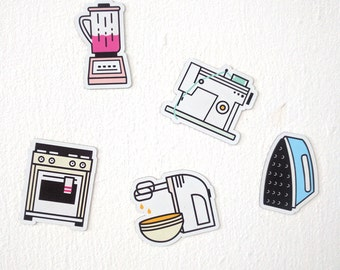 Kitchen/Cooking Fridge Magnet Set (with cool homemade packaging!)