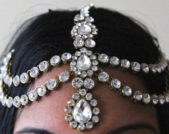 KUNDAN Grecian style head chain