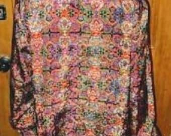 Women's vintage boho paisely top