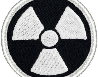 GLOW in the DARK! Nuclear Patch (276GL) 2 Inch Diameter Embroidered Patch