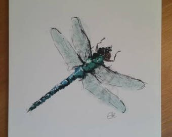 Dragonfly card // dragonfly birthday card // dragonfly greetings card // dragonfly gift // dragonfly drawing // dragonfly design // bug card