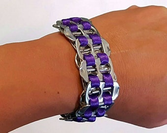Soda tab ring pull bracelet