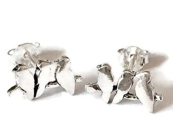 Sterling Silver Birds on a Branch Earrings/Highly polished/Gifts/wedding/bridesmaid