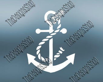 Boat Anchor SVG Design | T-Shirt Design File | Silhouette Studio | Svg Dxf PDF Sure Cuts A Lot Cricut Design Space Vinyl Decal Design | 255