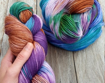 Majestical Hand Dyed Yarn Australian Merino Wool Nylon Australian Handdyed