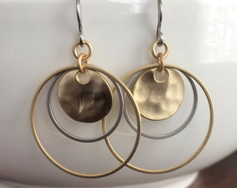 Gold hoop earrings silver hoop earrings