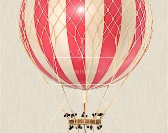 Hot Air Balloon Prop Overlay, Extra Large File, High Resolution, Great for Newborns and Kids, Instant Download.