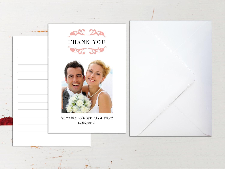 Custom Classic Wedding Thank You Card Photograph Envelopes – Wedding Thank You Cards Uk