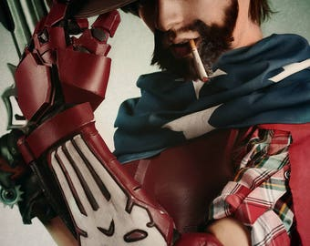 Overwatch - American Jesse McCree cosplay armor - videogame costume and props or halloween costume