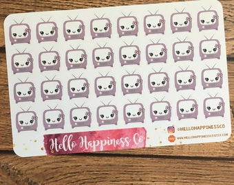 Kawaii Utility Bill Stickers- Cable Bill Stickers - Planner Stickers - Functional Stickers