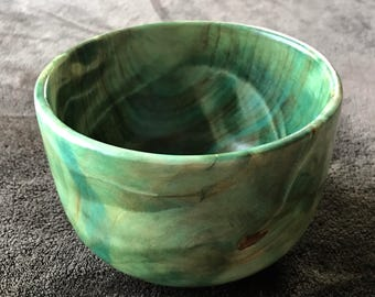 Hand Turned Boxelder Dyed Bowl