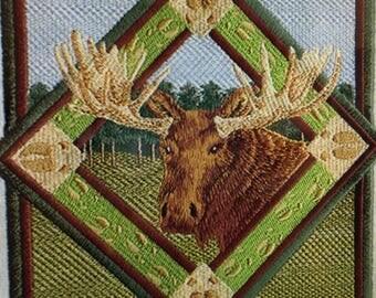"Embroidered ""Moose Track Portrait"" Shirt"