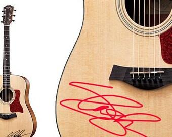 Slash Handwriting guitar decal