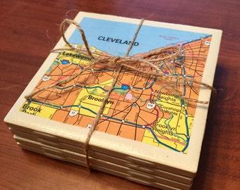 Ohio Map Coasters