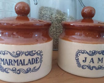 Marmalade & Jam Pots/Cannisters/Breakfast Dining