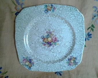 English chintz fruits plate, Tunstall