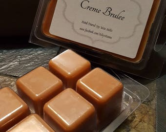 Creme Brulee Soy Wax Melts - Scented Wax- Housewarming Gift - creme brulee Candle