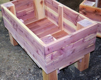 Cedar Garden Planter, Herb Garden Planter, Flower Planter, Vegtable Planter, Patio Garden Planter, Roof Top Planter