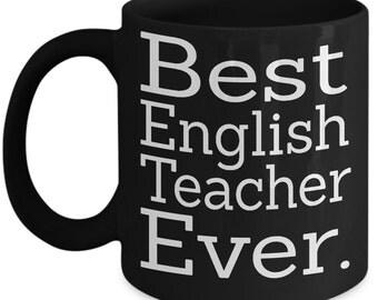 Teacher mug, english teacher gift, english teacher, english teacher mug, teacher coffee mug, gift for teacher, teacher gifts, teacher gift
