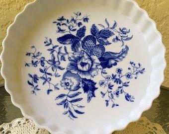 Royal Worcester Rhapsody Porcelain Quiche Ramekin Tart Flan Baking Dish
