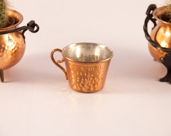 Scandinavian copper coffee cup /  copper tea cup / Swedish copper cup / copper espresso cup / hammered copper demitasse cup / Scandi decor