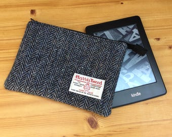 Harris Tweed Kindle case - e-reader  sleeve - Kindle cover - Father's Day gift -  Kindle paperwhite case - wool Anniversary gift