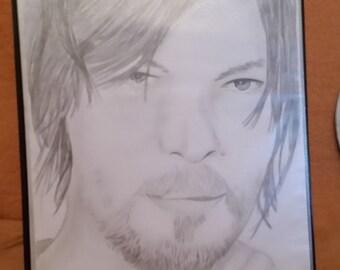 Daryl Dixon aus the Walking Dead Bleistiftzeichnung 01
