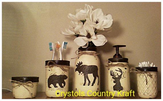 Hunting Bathroom Decor Set : Deer buckbear moose bathroom set lodge theme in