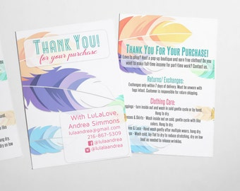 Feather Care Card / Thank You Card - approved