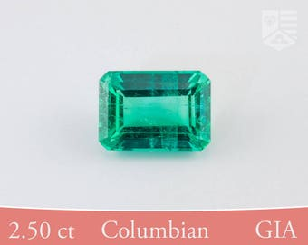 2.50 ct, GIA Certified, Natural Columbian Emerald, Post-Consumer