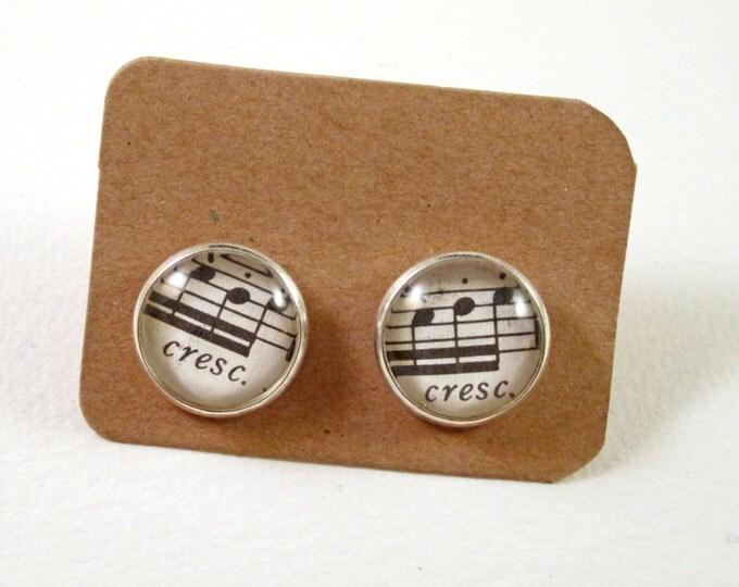 Music ear studs