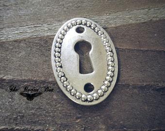 Keyhole Pendant Keyhole Connector Keyhole Link Lock Pendant Keyhole Charm Antiqued Silver Keyhole Pendant Oval Keyhole Steampunk Keyhole