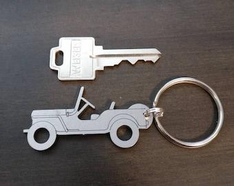 Laser Cut Jeep Willys keychains