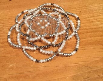 Wire and bead kippot