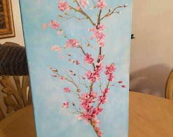 Cherry Blossom (oil on canvas)