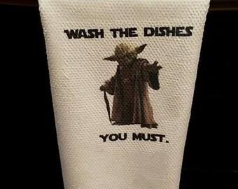 Yoda Dish Towel