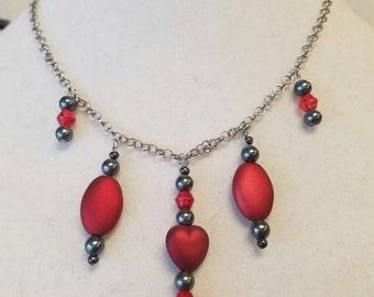 Red Matte Valentine Necklace