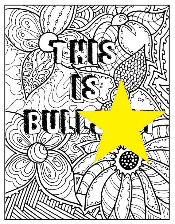 Swear Words Coloring Book Page This Is BS
