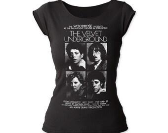 Velvet Underground Woodrose Presents Print Junior's Fitted Cut Tee Shirt (VUCT01)