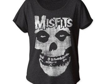 The Misfits distressed skull women's dolman (MISDOL01)