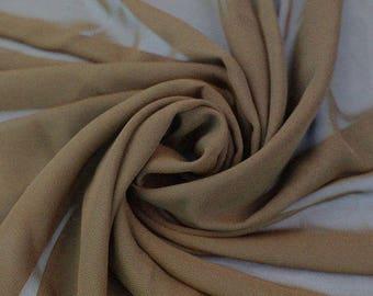 Hi Multi Chiffon Fabric - 10 Yards - Brown (LF1)