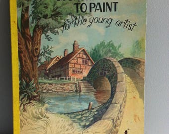 Vintage painting, colouring Book - Country Scenes to Paint for the young Artist, 1950's.