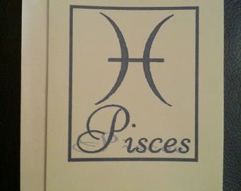 Pisces Greetings Card