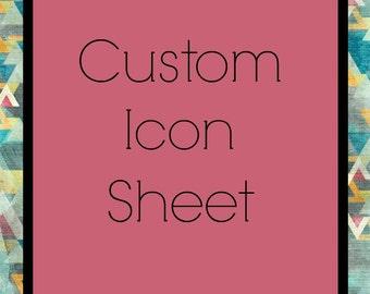 Custom Icon Sheet