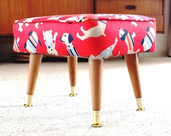 Footstool for animal lovers