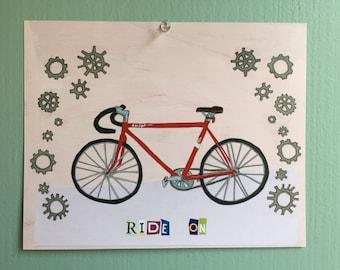 Bicycle Art Print (Ride On)