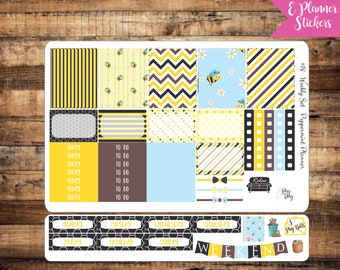 E Planner Bee Hive Weekly Planner Stickers {#18}