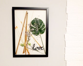 All Seasons Art Composition in Handmade Frame