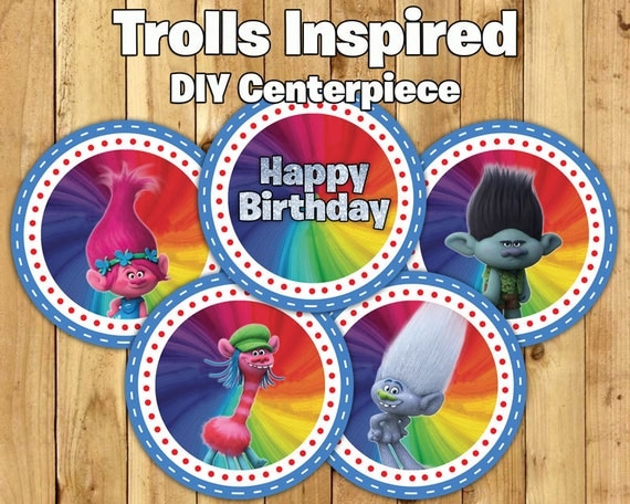 Trolls Party Table Centerpieces